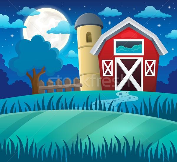 Night farmland theme 1 Stock photo © clairev