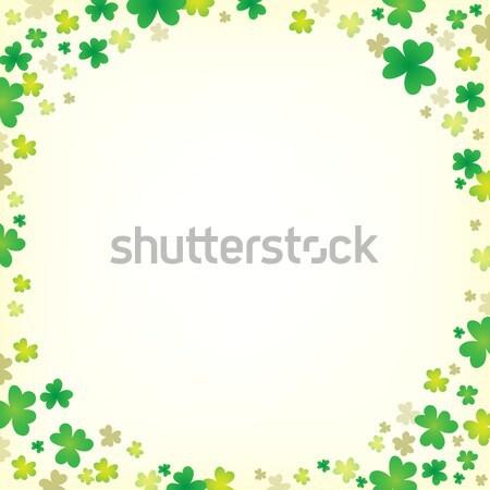 3  葉 クローバー 抽象的な 自然 背景 ストックフォト © clairev