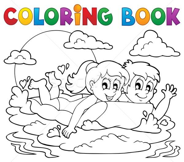 Carte De Colorat Vară Activitate Fată Copii