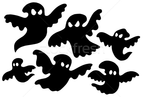 Scary ghost silhouettes vector Stock photo © clairev