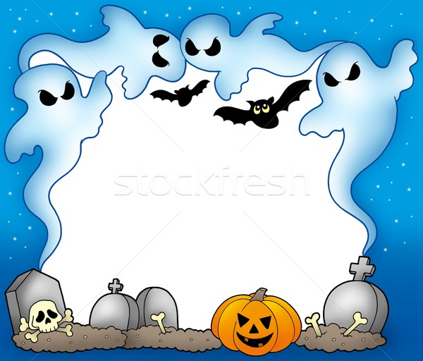 Halloween frame with ghosts 2 Stock photo © clairev