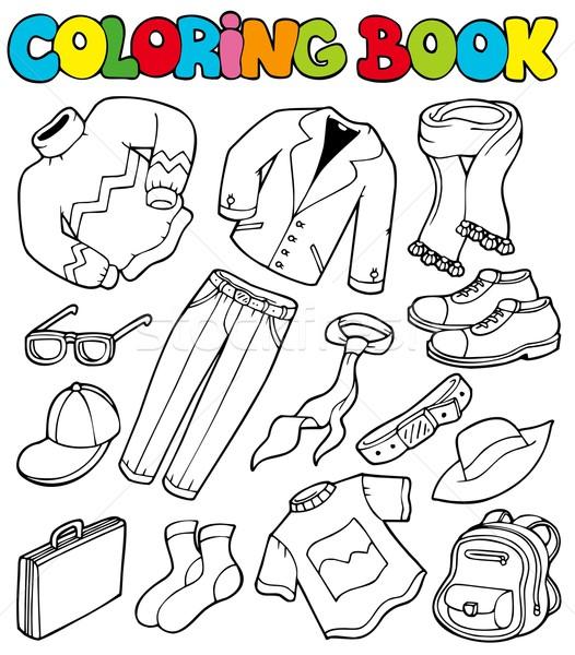 Boyama Kitabı Giysi Kitap Dizayn Boya Takım Elbise