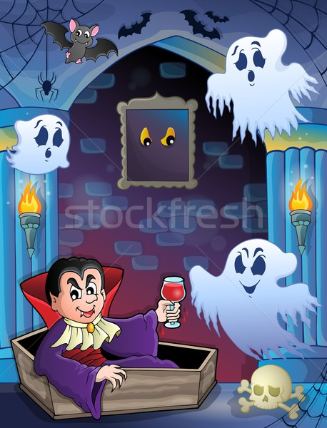 Wall alcove with Halloween theme 5 Stock photo © clairev
