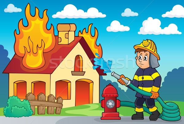 Firefighter theme image 2 Stock photo © clairev