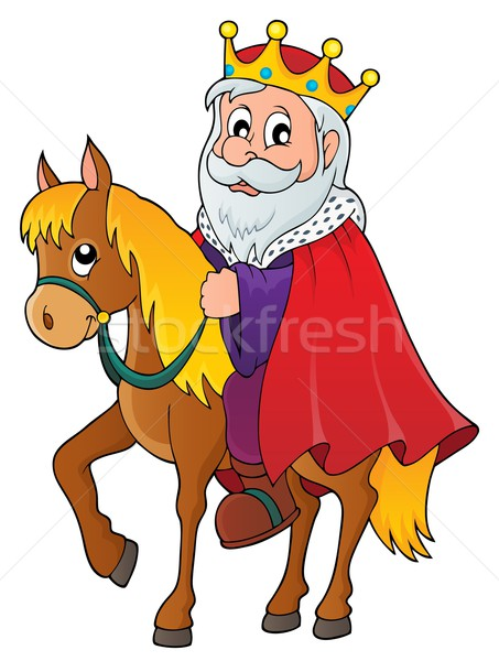 King on horse theme image 1 Stock photo © clairev