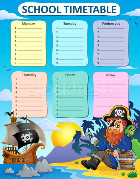 Weekly school timetable thematics 6 Stock photo © clairev