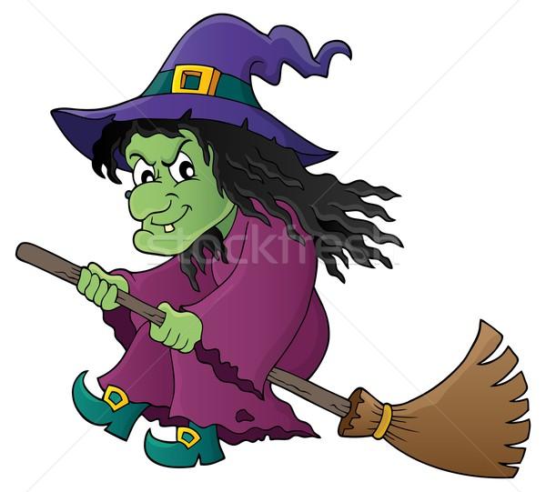 ведьмой метлой изображение рисунок одежду Cap Сток-фото © clairev