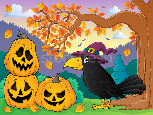 Witch crow theme image 3 Stock photo © clairev