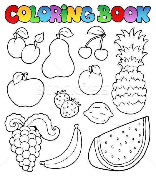 Carte de colorat fructe imagini alimente carte for Fruits coloring pages pdf