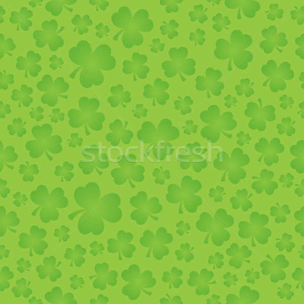 Three leaf clover seamless background 5 Stock photo © clairev