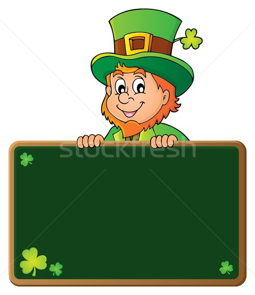 Leprechaun holding greenboard 1 Stock photo © clairev
