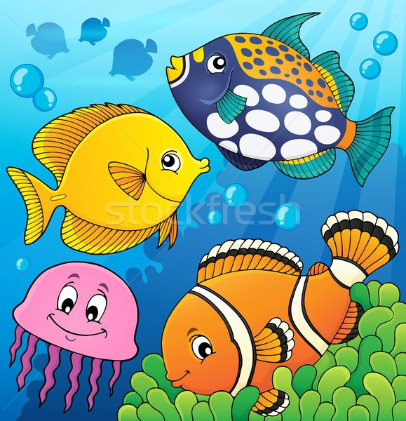 Coral reef fish theme image 9 Stock photo © clairev