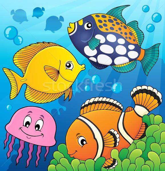サンゴ礁 魚 画像 水 自然 海 ストックフォト © clairev