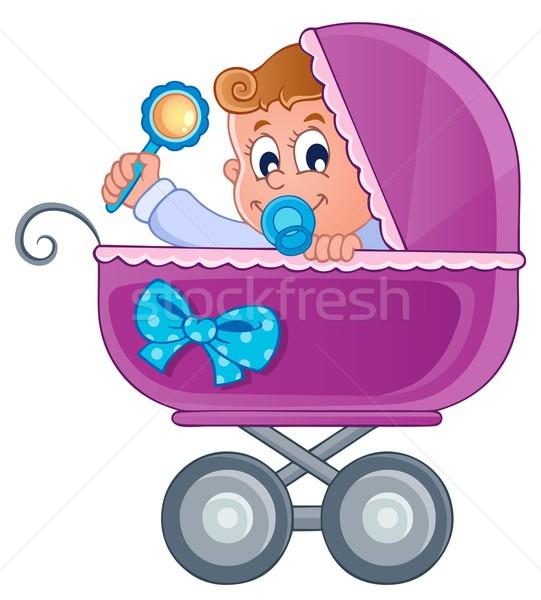 乳母車 画像 赤ちゃん 笑顔 子 芸術 ストックフォト © clairev