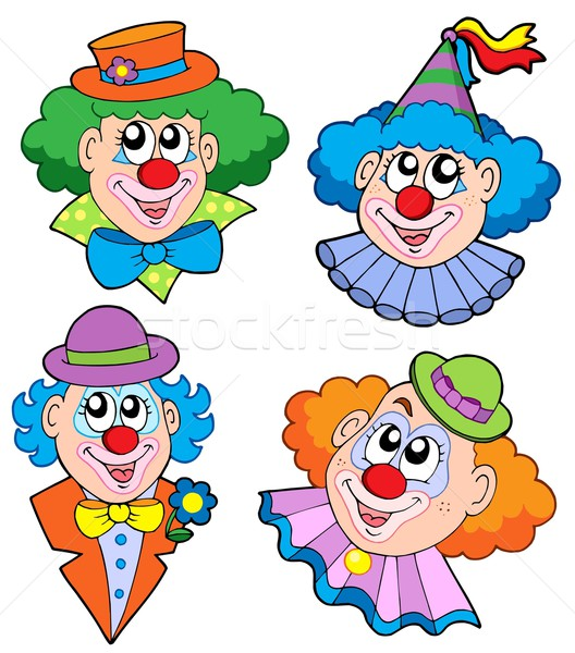 Clowns head collection Stock photo © clairev