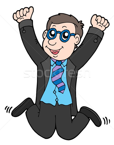 Happy jumping businessman 2 Stock photo © clairev