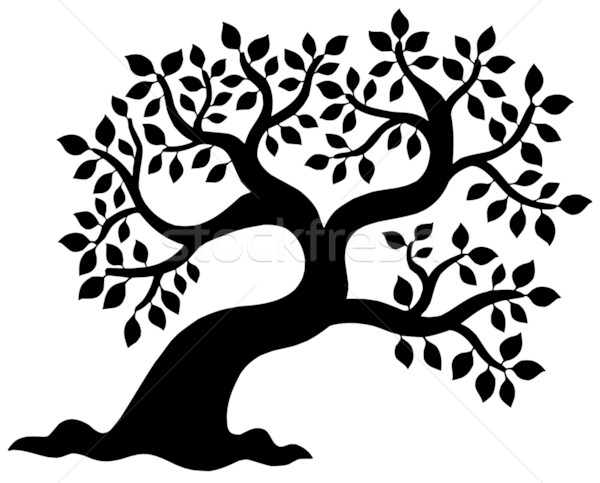 Arbre silhouette nature design feuille arbres Photo stock © clairev