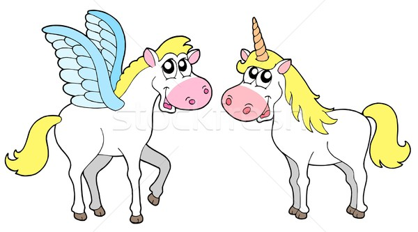Pegasus and unicorn Stock photo © clairev