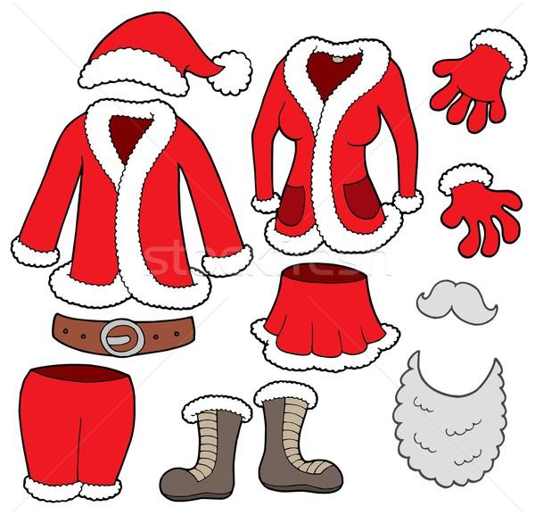 Stock fotó: Mikulás · ruházat · gyűjtemény · nő · tél · öltöny