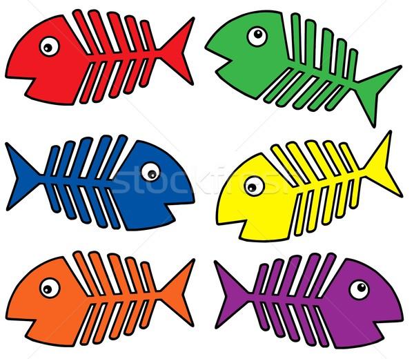 Various colors fishbones Stock photo © clairev