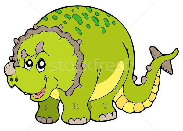 Karikatür gözler sanat yeşil hayvanlar renk Stok fotoğraf © clairev