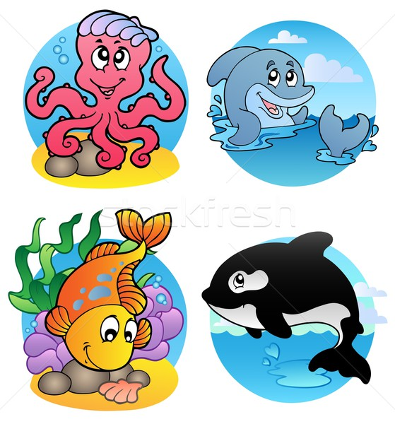Various aquatic animals and fishes Stock photo © clairev