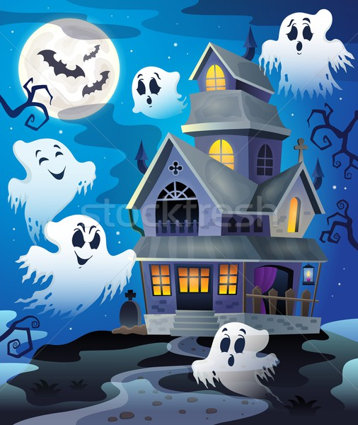 Image with haunted house thematics 4 Stock photo © clairev