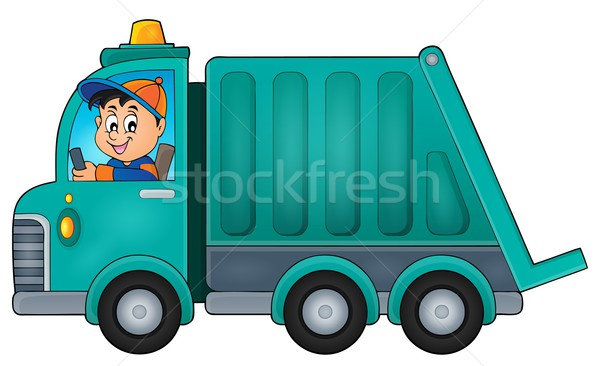 Garbage collection truck theme image 1 Stock photo © clairev