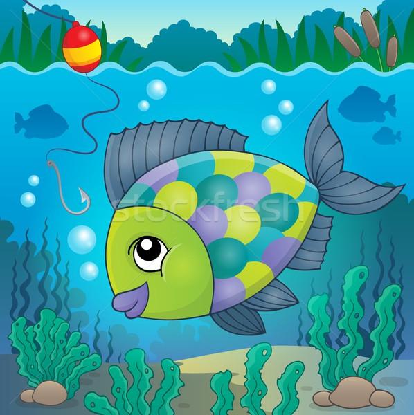 De agua dulce peces tema imagen naturaleza hojas Foto stock © clairev