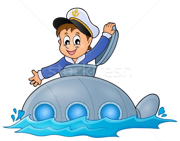 подводная лодка моряк изображение воды улыбка металл Сток-фото © clairev