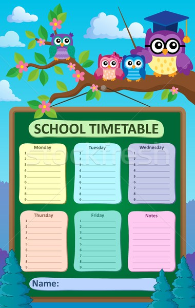 Weekly school timetable subject 6 Stock photo © clairev