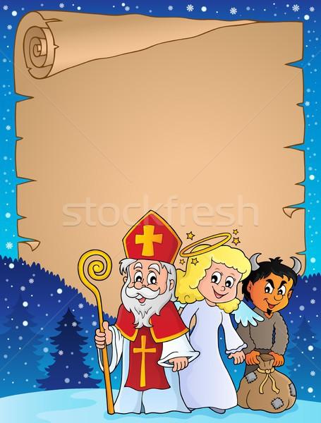 Saint Nicholas Day thematic parchment 1 Stock photo © clairev