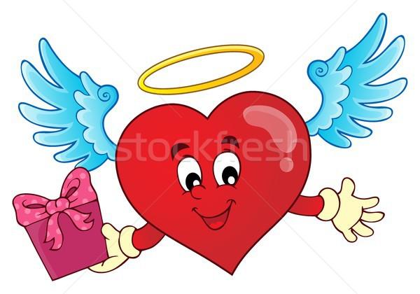 Valentin nap szív téma kép kéz szeretet Stock fotó © clairev