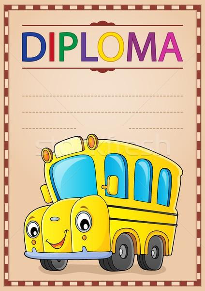 Diploma ontwerp afbeelding papier oog gezicht Stockfoto © clairev