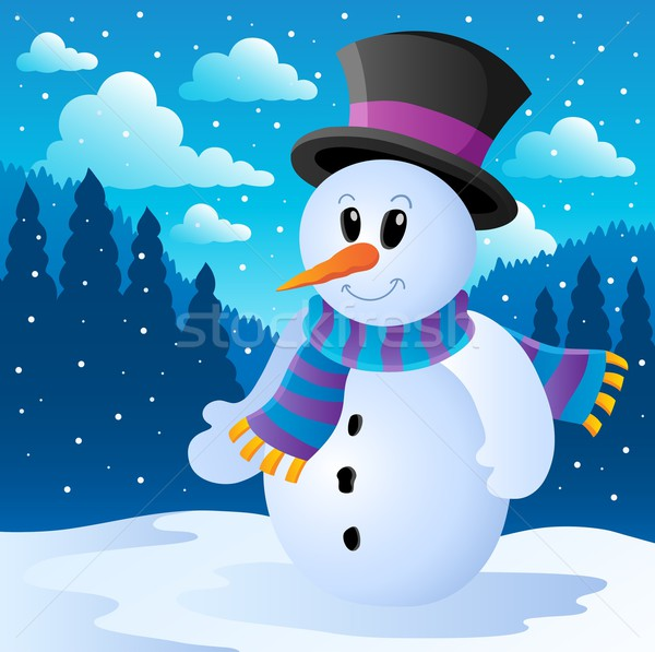 Winter snowman theme image 2 Stock photo © clairev