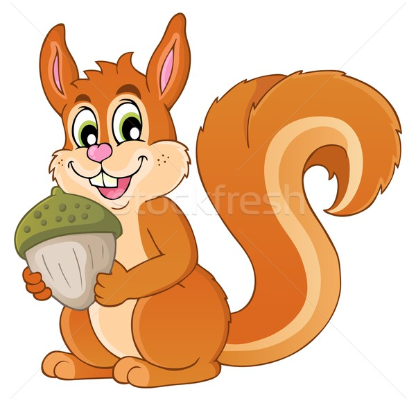 Image with squirrel theme 1 Stock photo © clairev