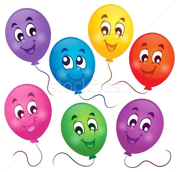 Сток-фото: шаров · изображение · улыбка · дизайна · игрушку · лет