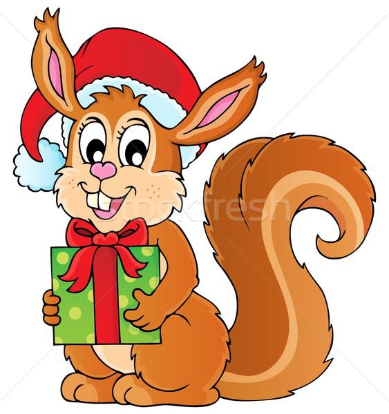 Christmas theme squirrel image 1 Stock photo © clairev