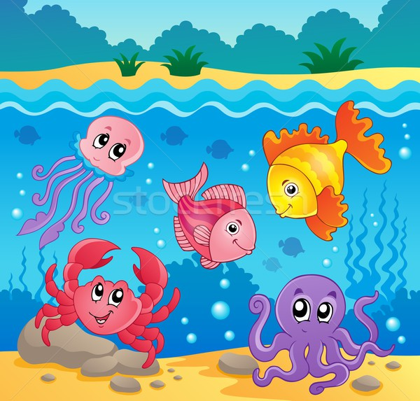 Underwater ocean fauna theme 5 Stock photo © clairev