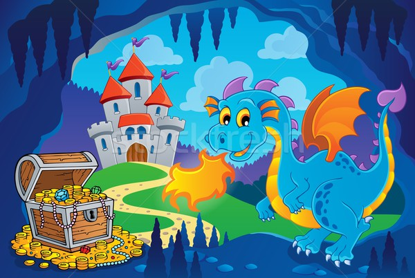 Fairy tale image with dragon 8 Stock photo © clairev