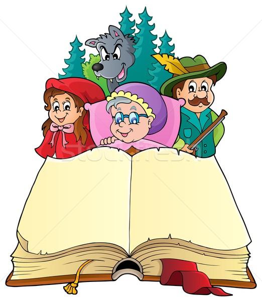 Tündérmese kép nő könyv gyermek terv Stock fotó © clairev