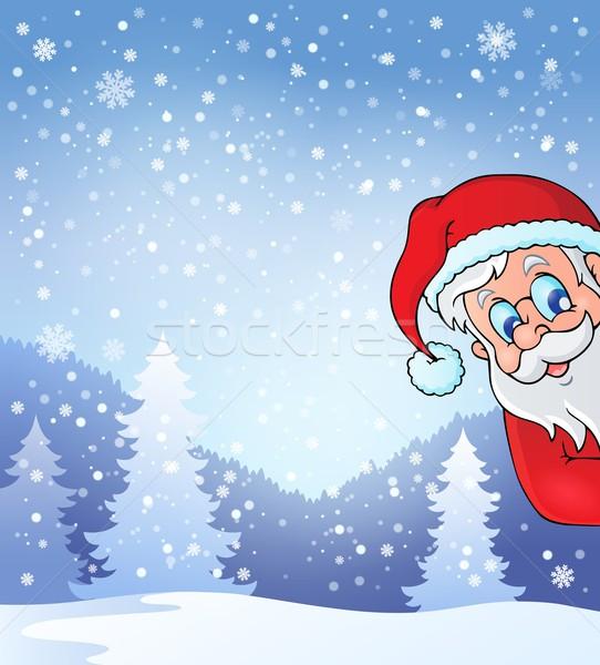 Theme with lurking Santa Claus Stock photo © clairev