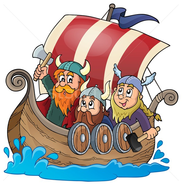 Viking ship theme image 1 Stock photo © clairev