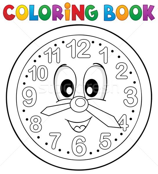 Livro Para Colorir Relogio Livro Olho Olhos Pintar