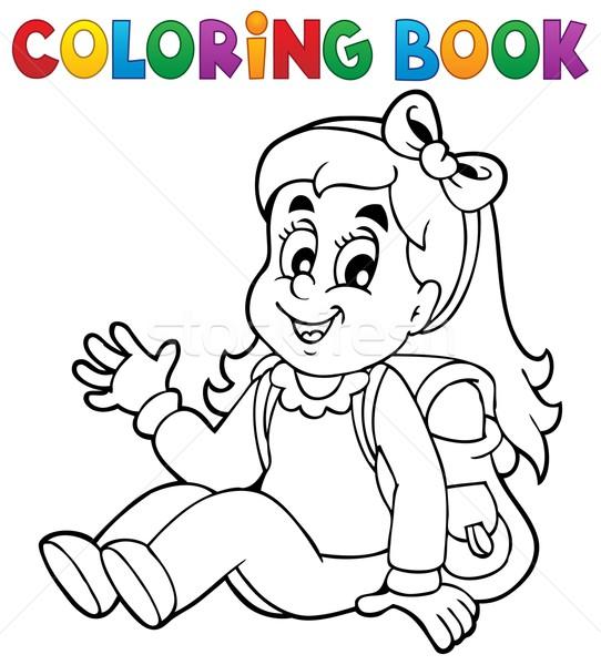 livro para colorir menina sorrir livro criança pintar
