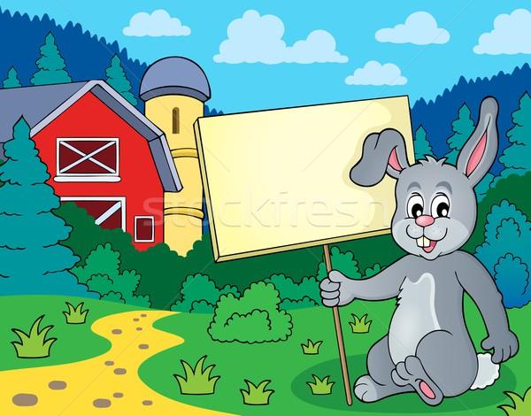 ストックフォト: ウサギ · にログイン · 画像 · 芸術 · ファーム · バニー