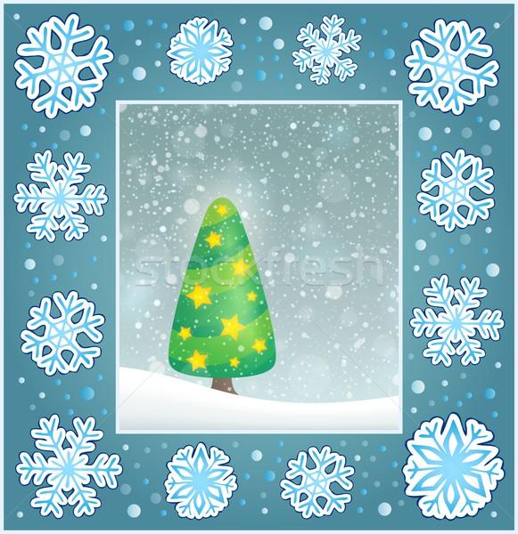 Christmas subject greeting card 4 Stock photo © clairev