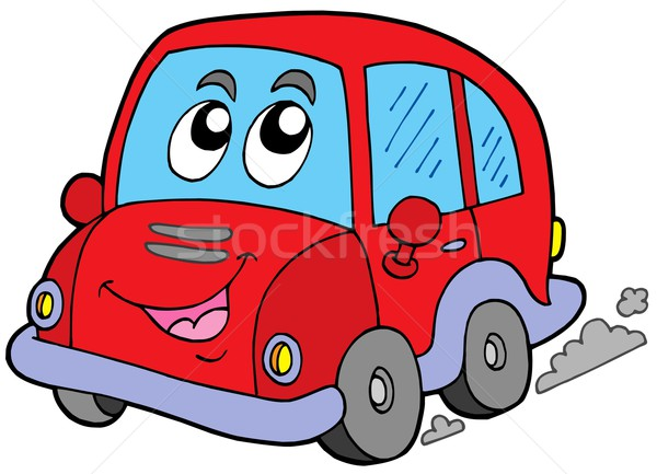 Cartoon voiture blanche visage yeux design Photo stock © clairev