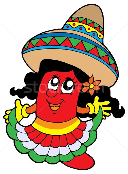 Cute Mexican chilli girl Stock photo © clairev