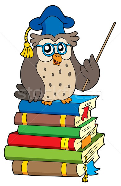 Stock photo: Owl teacher and books